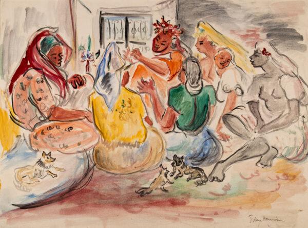 HARRISON John Theodore (1914-2002) - Moroccan interior.