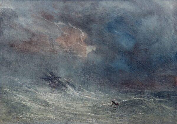 HART T C (19th Century) - Storm at sea.