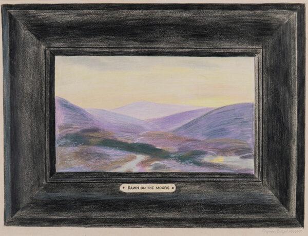 HARTE Glynn Boyd (1948-2003) - 'Dawn on the Moors'.