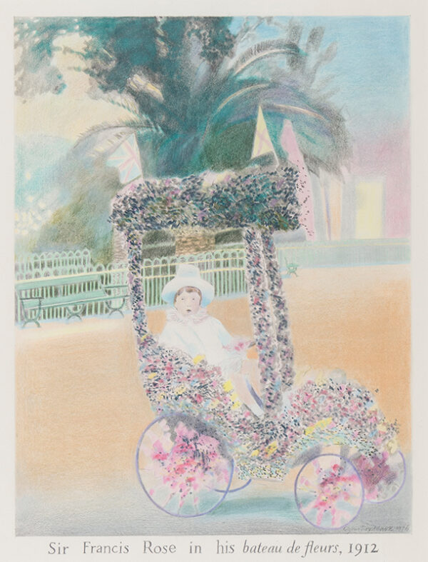 HARTE Glynn Boyd (1948-2003) - 'Sir Francis Rose in his bateau des fleurs, 1912'.
