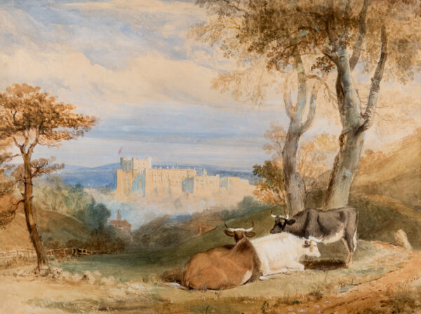 HASTINGS Edward (1781-1861) - View of Durham Castle.