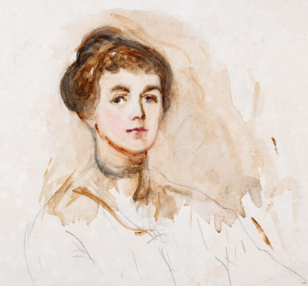 HATCH Ethel (1869-1975) - Study of a young woman, possibly a self-portrait.