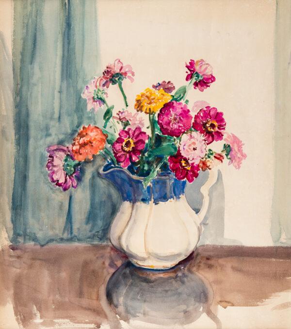 HATCH Ethel (1869-1975) - Jug of flowers.