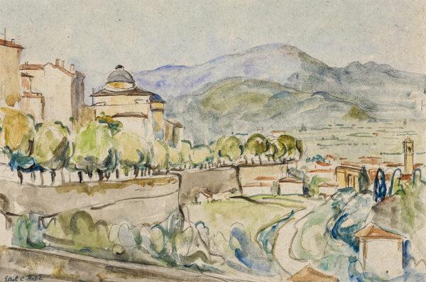 HATCH Ethel (N.E.A.C. 1869-1975) - A Ligurian hill town.