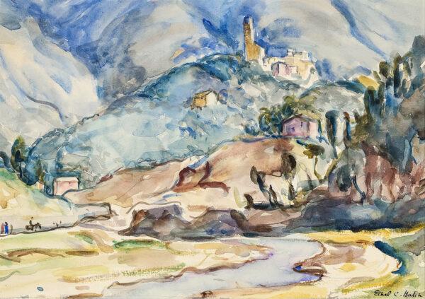 HATCH Ethel N.E.A.C. (1869-1975) - Italian landscape.