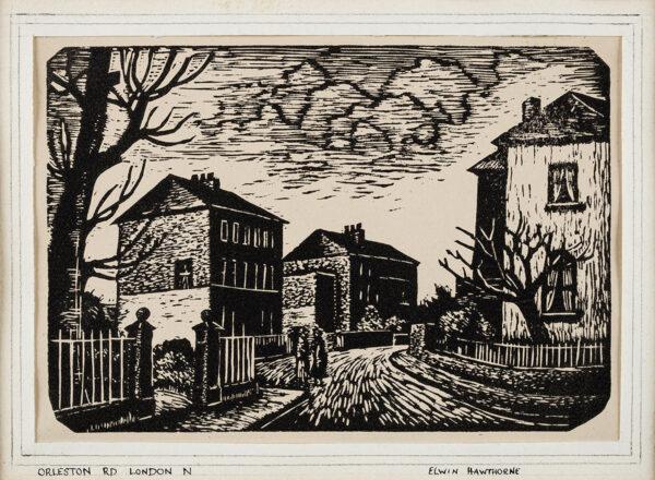 HAWTHORNE Elwin (1905-1954) - 'Orleston Rd London N'.