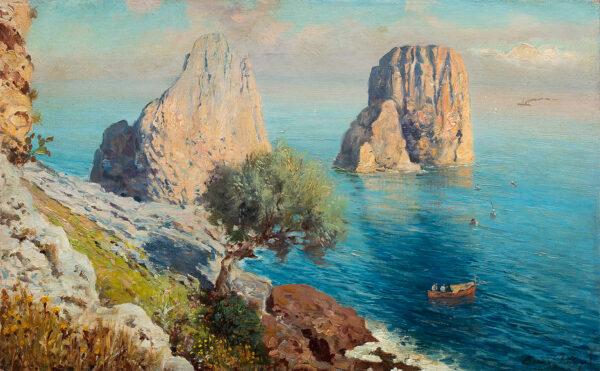 HAY Bernardo (1864-1931) - I faraglioni, Capri.