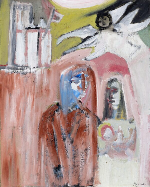 HAYMAN Patrick (1915-1988) - 'The Angel appears to Joseph and Mary in Jerusalem'.