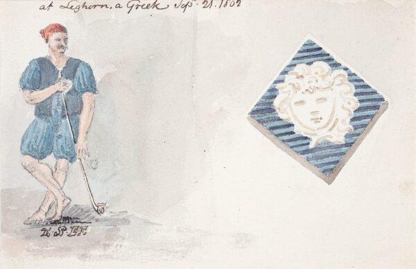 HAYWARD John Samuel (1778-1822) - 'At Leghorn (Livorno), a Greek'.