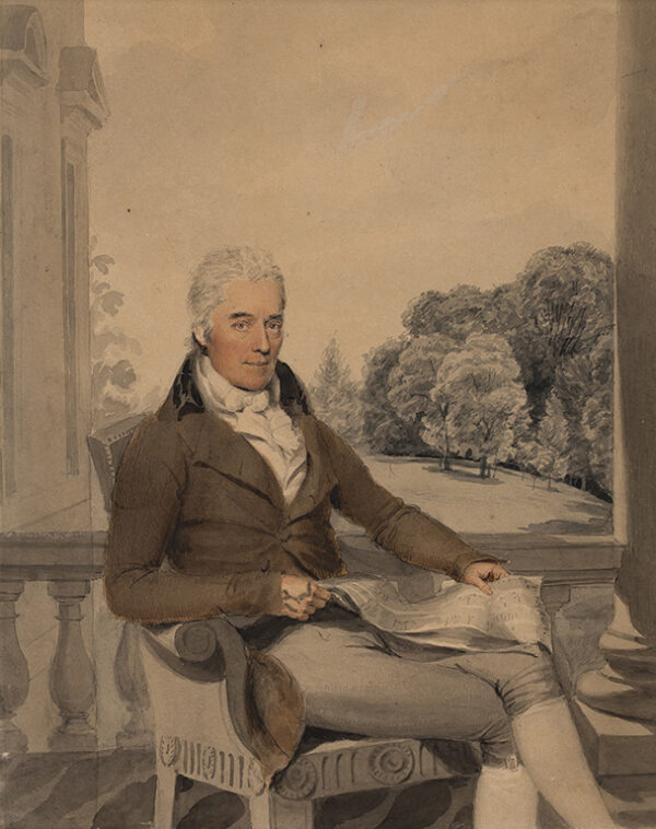 HEAPHY Thomas (1775-1835) - Portrait of a Gentleman, by family repute Sir Walter Stirling of Faskine (1758-1832) High Sheriff of Kent.