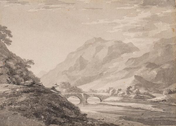 HEARNE Thomas (1744-1817) - A Lake District bridge.