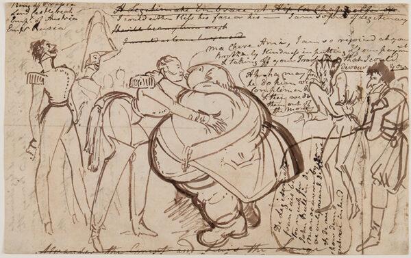 HEATH William (1794-1840) - 'A Kiss at the Congress'.