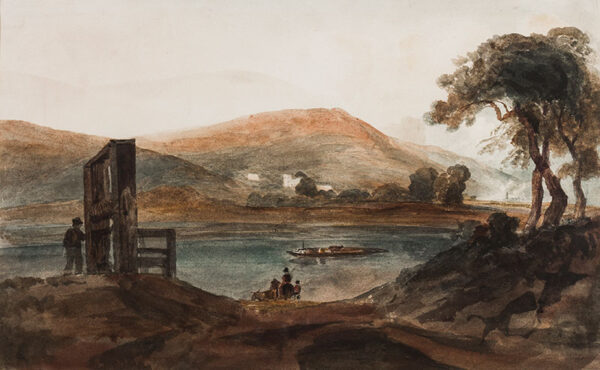 HEATHCOTE James Moyer (1800-1892) - 'Gaviland (sic) Ferry'; Gavilon Ferry on the Usk.