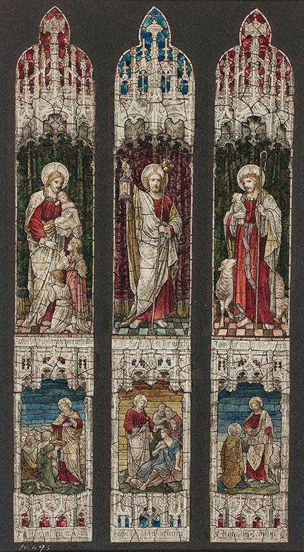 HEATON, BUTLER and BAYNE (Firm of) (fl.1862-1953) - 'Christ the Good Shepherd'.