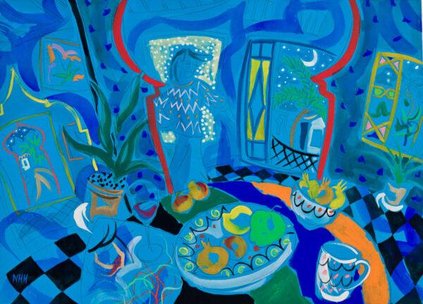 HELY-HUTCHINSON Nicholas (b.1955) - 'Figure in a Moroccan Interior'.