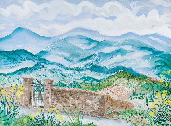 HELY-HUTCHINSON Nicholas (b.1955) - 'Tuscan Hill'.