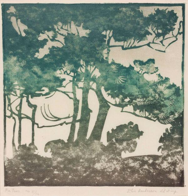 HENDERSON Elsie (Baronne de Coudenhove) (1880-1967) - 'Fir Trees'.