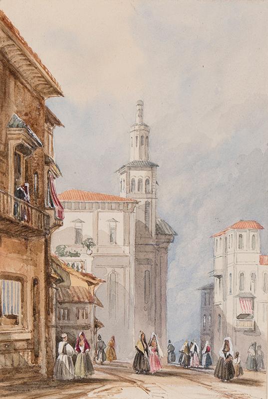 HENDERSON John (1797-1878) - View in Spain.