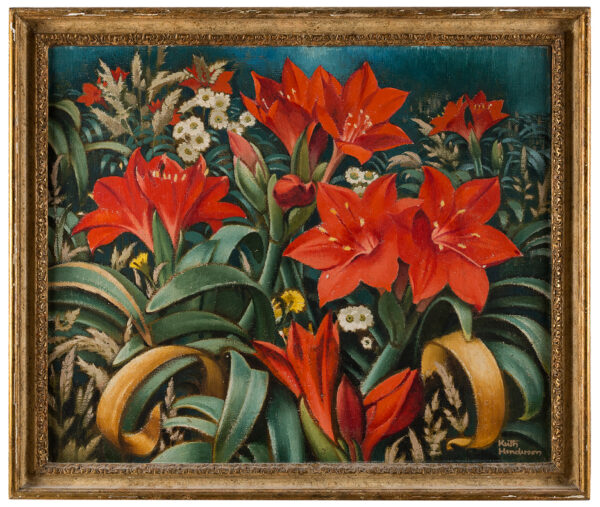 HENDERSON Keith R.S.W. R.O.I. (1883-1982) - Lilies, daisies and grasses.