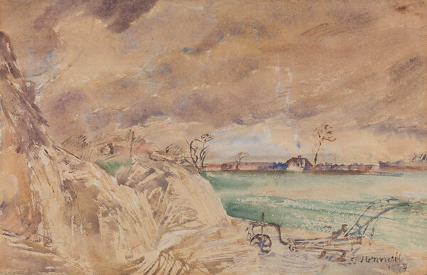 HENNELL Thomas Barclay R.W.S. (1903-1945) - 'Straws in the wind', probably Ridley, Kent.