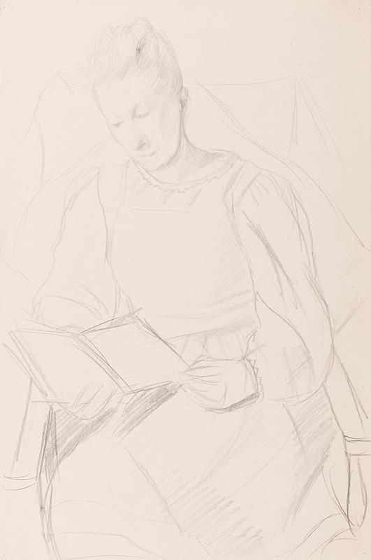 HEPWORTH Dorothy (aka Patricia Preece) (1894-1978) - Cookham woman reading.