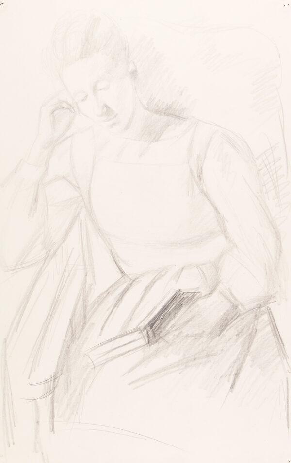 HEPWORTH Dorothy (aka Patricia Preece) (1898-1978) - Girl reading, Cookham.