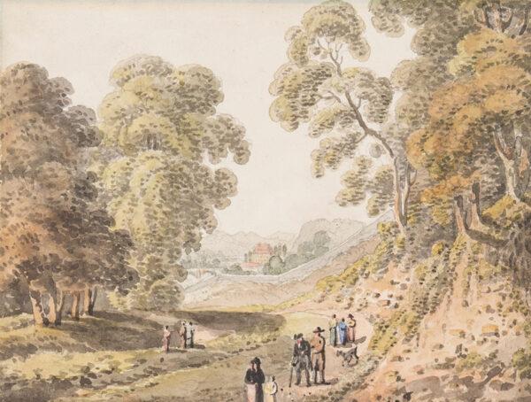 HERIOT George (1759-1839) - Continental landscape.