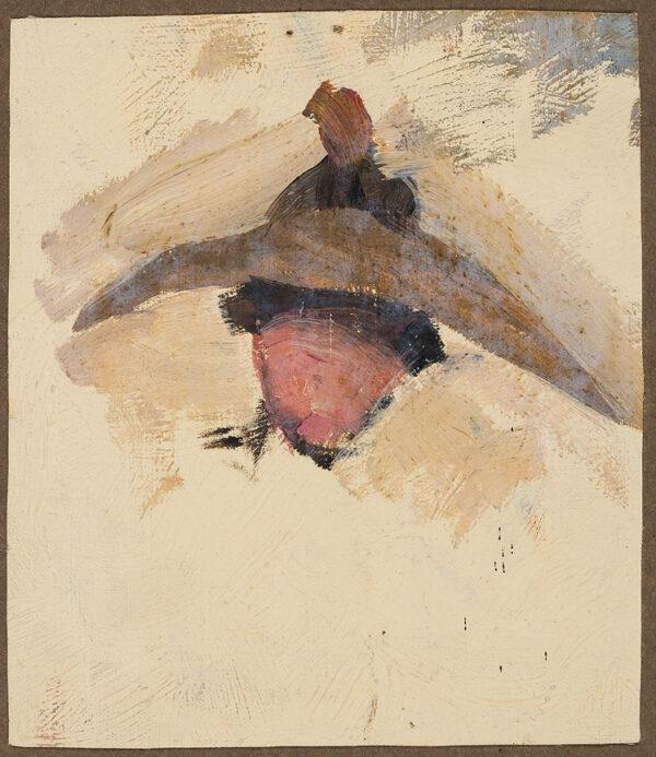 HERKOMER Sir Hubert von R.A. (1849-1914) - Head and Hat.