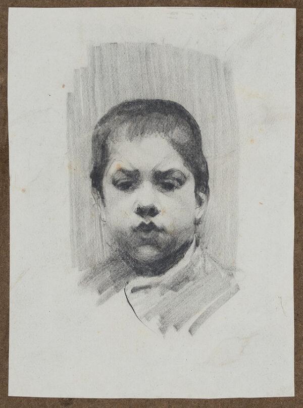 HERKOMER Hubert von R.A. (1849-1914) - Head of a boy.