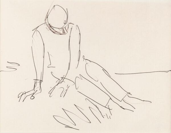 HERMAN Josef (1911-2000) - Study of a seated Man.