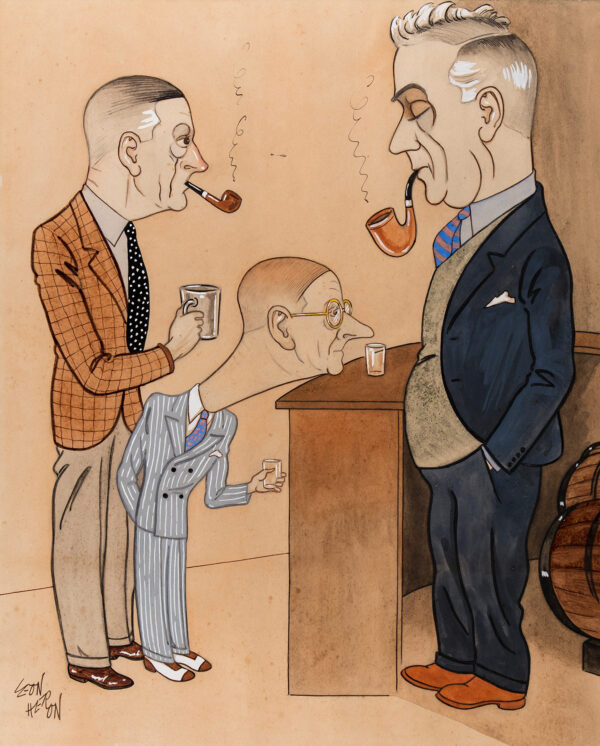 HERON Leon (fl.1930s) - At a Bar.