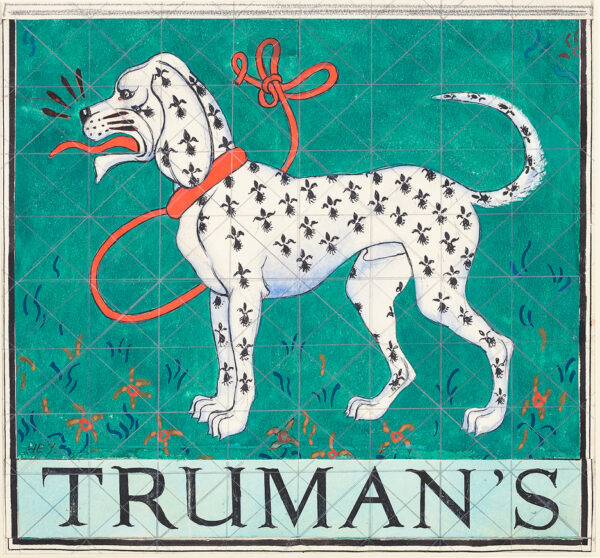HEY Cicely (1896-1980) - 'Trumans': design for a pub sign.