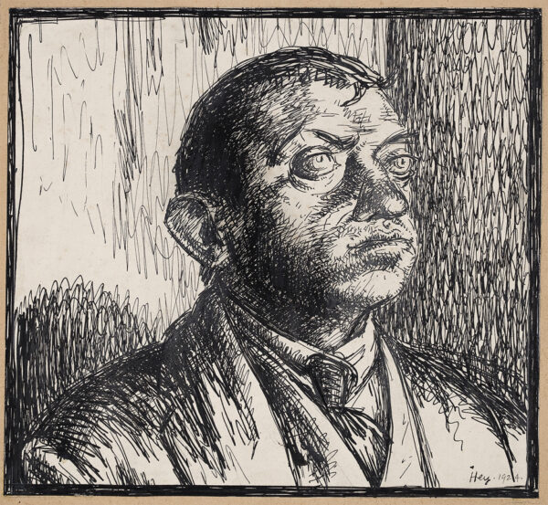 HEY Cicely (1896-1980) - Head of a Man.