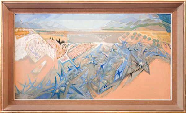 HEYOOD Oliver (1920-1992) - 'Blue thistle near Corinth'.