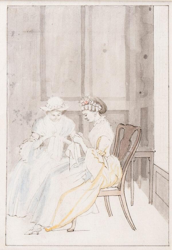 HIGHMORE Anthony (1719-1799) - Ladies sewing.