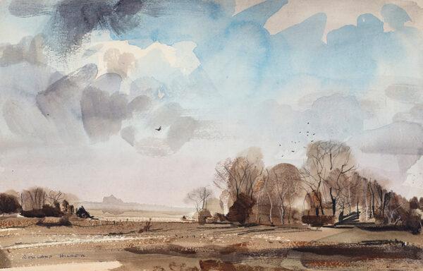 HILDER Rowland P.P.R.I.  R.S.M.A. (1905-1993) - Winter landscape – Kent'.