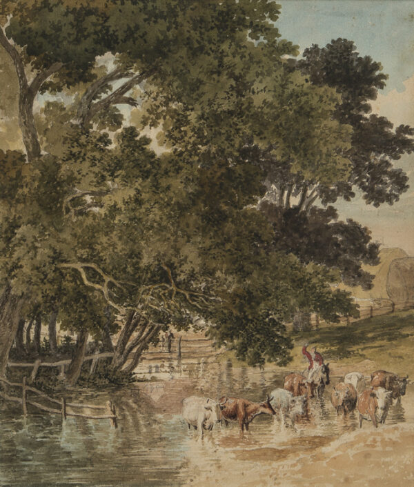 HILLS Robert O.W.S. (1769-1844) - A watering place.