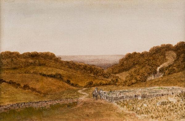 HILLS Robert O.W.S. (1769-1844) - 'Twilight, turnip field'.