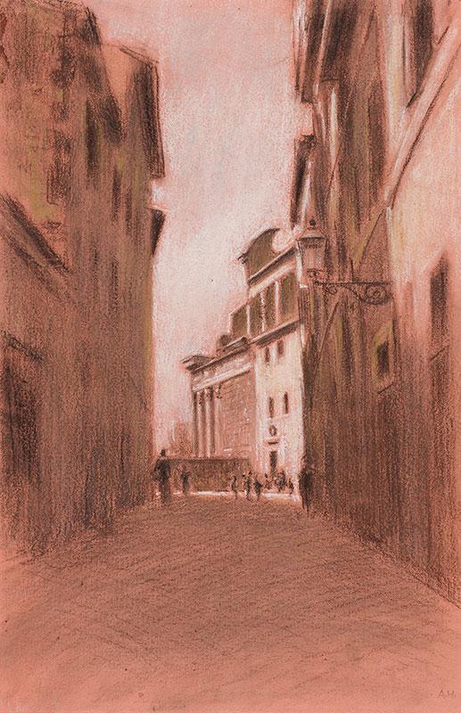 HIREMY-HIRSCHL Adolf (1860-1933) - Rome: Street II.