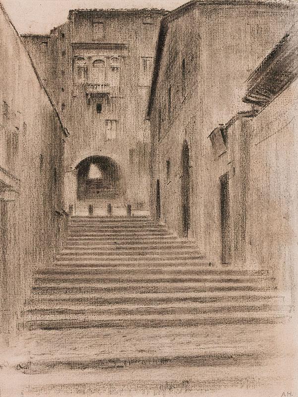 HIREMY-HIRSCHL Adolf (1860-1933) - Rome: Steps I.