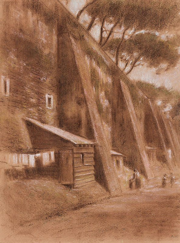 HIREMY-HIRSCHL Adolf (1860-1933) - Rome: Walls II.
