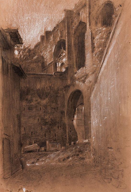 HIREMY-HIRSCHL Adolf (1860-1933) - Rome: Walls I.