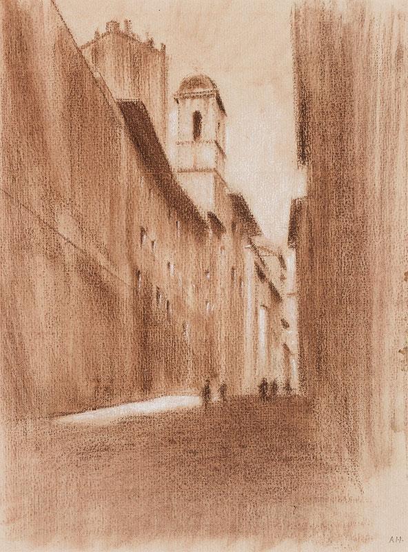 HIREMY-HIRSCHL Adolf (1860-1933) - Rome: Street I.