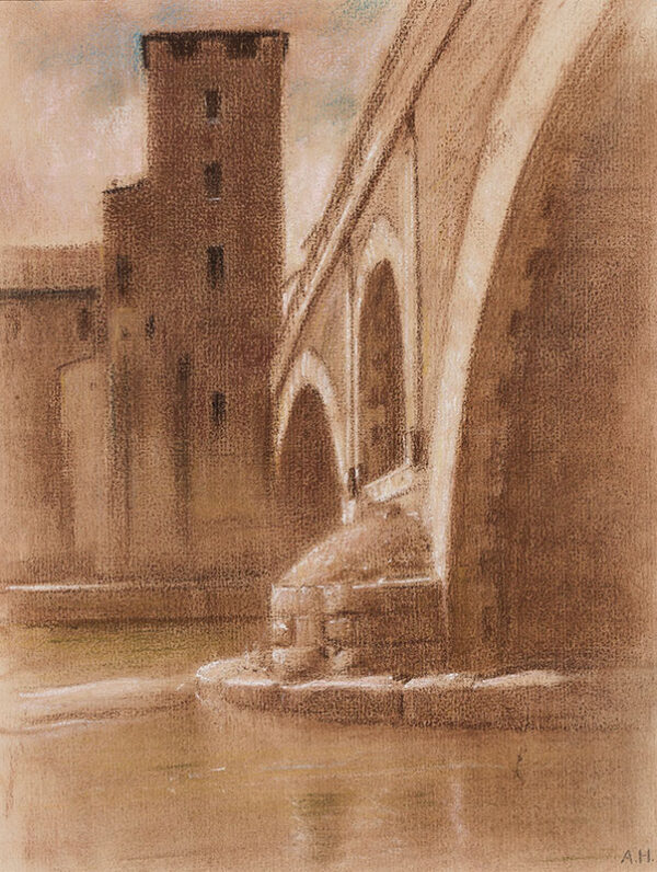 HIREMY-HIRSCHL Adolf (1860-1933) - Rome: On the Tiber.
