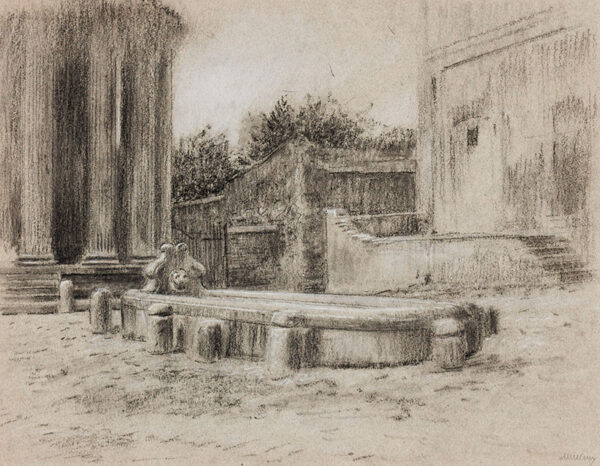 HIREMY-HIRSCHL Adolf (1860-1933) - Rome: fountain and temple.
