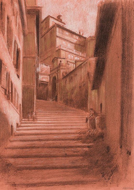 HIREMY-HIRSCHL Adolf (1860-1933) - Rome: Steps II.