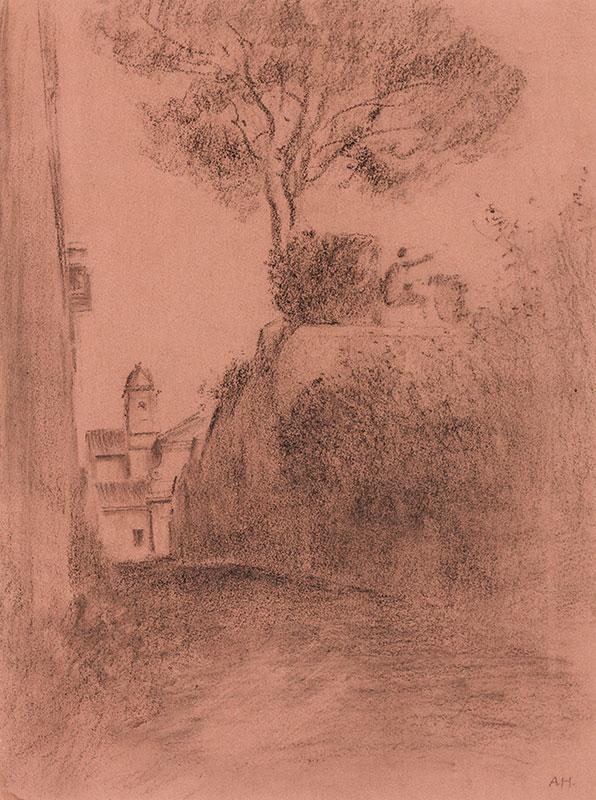 HIREMY-HIRSCHL Adolf (1860-1933) - Rome: 'Vicolo Sterrato' (now Via S.