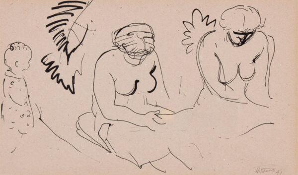 HITCHENS Ivon (1893 - 1979) - The sunbather.
