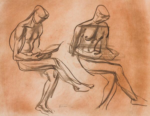 HITCHENS Ivon L.G. (1893-1979) - Resting figure.