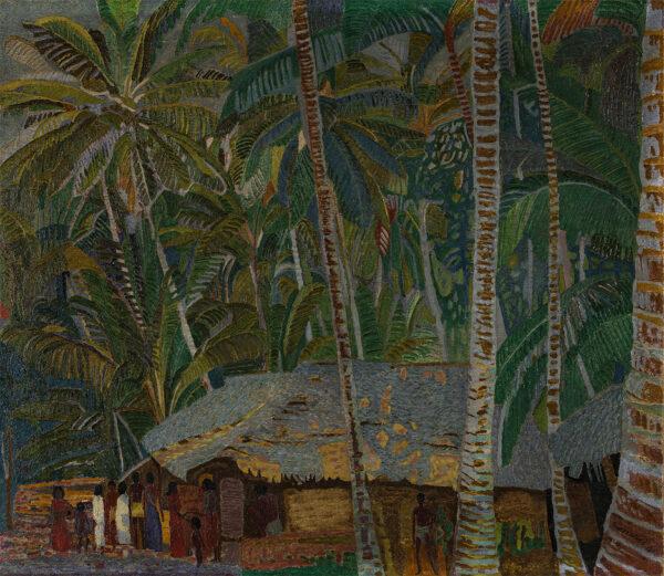 HNEVKOVSKY Jaroslav (Czech 1884-1956) - Ceylon: a jungle village.